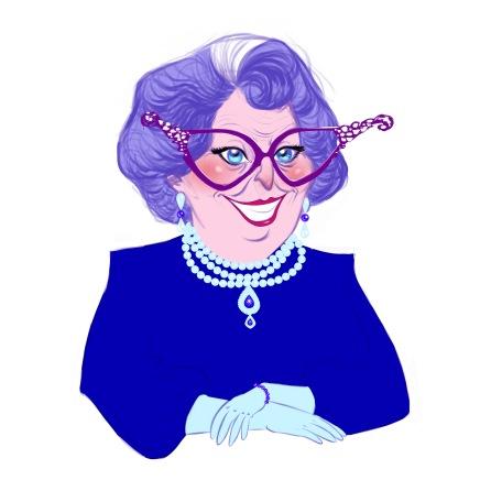 Edfumsia Bathilda Mannerhausen aka Great Granny Fum (art by Gil Franco)
